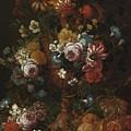Nicolaes Van Veerendael Antwerp 1640 - 1691 Still Life Of Roses, Carnations And Other Flowers by Nicolaes Van Veerendael