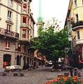 Niederdorf Square In Zurich Switzerland by Susanne Van Hulst