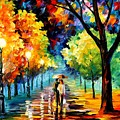 Night Alley by Leonid Afremov