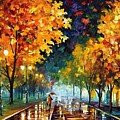 Night Autumn Park  by Leonid Afremov