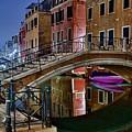 Night Bridge In Venice by Frozen in Time Fine Art Photography