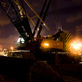 Night Crane by Jorgo Photography - Wall Art Gallery