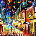 Night Etude - Palette Knife Oil Painting On Canvas By Leonid Afremov by Leonid Afremov