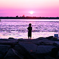 Night Fishing On Long Beach Island by John Rizzuto