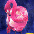 Night Flamingo by Noga Ami-rav