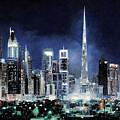 night in Dubai City by Guido Borelli