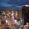 Night Las Vegas Strip Landscape by Kyle Hanson