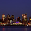 Night Lights Of Downtown Vancouver by Mark Duffy