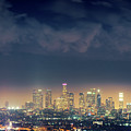 Night Los Angeles Skyline by Konstantin Sutyagin
