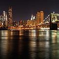 Night Nyc Panorama by Dmitriy Laria
