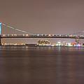 Night On The Delaware - The Benjamin Franklin Bridge by Bill Cannon