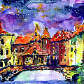 Night Over Annecy by Ginette Callaway