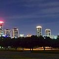 Night Pano Of Fort Worth by Frozen in Time Fine Art Photography