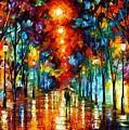 Night Park by Leonid Afremov