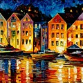 Night Resting Original Oil Painting  by Leonid Afremov