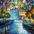Night River by Leonid Afremov