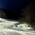 Night Skiing At Mccauley Mountain by David Patterson