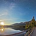 Night Sky Panorama Of Pyramid Lake by Alan Dyer