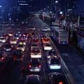 Night Skyline Of Jakarta Indonesia 2 by Uma Krishnamoorthy
