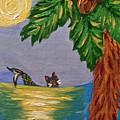 Night-swimming Mercat by Deborah Evers