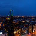 Night Tallinn City Line Panorama by Sandra Rugina