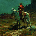 Night Time In Wyoming by Frank Tenney Johnson
