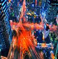 Night Traffic  by Jeelan Clark