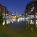 Night View Across River Avon To Temple Bridge Bristol England by Jacek Wojnarowski