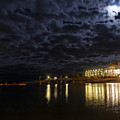 Night View Of Bar Harbor Maine by George Oze
