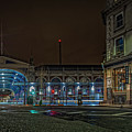 Night View Of Smithfield Market In North London by Philip Pound