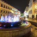 Night View Of The Senado Square In Macau  by Didier Marti