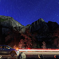 Night View Of The Upper And Lower Yosemite Fall by Chon Kit Leong