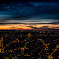 Night View Over Paris With Eiffel Tower by Bailey Cooper Photography