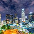 Night View Scenes Around Charlotte North Carolina by Alex Grichenko