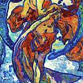 Night Woman Van Gogh Style Abstract by Isabella Howard