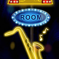 Nightclub Sign Boom Boom Room by Shari Warren