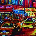 Nightlights On Main Street by Carole Spandau