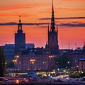 Nightsky Over Stockholm by Inge Johnsson