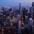Nighttime Chicago Skyline by Kyle Hanson