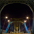 Nighttime On The Walking Bridge  by Stacey Sather