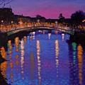 Nighttown Ha Penny Bridge Dublin by John  Nolan