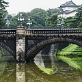 Nijubashi Bridge At Imperial Palace by Keith Levit
