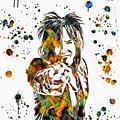 Nikki Sixx Paint Splatter by Dan Sproul