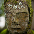 Nikko Stone Carved Face 2 by Geoffrey Williams