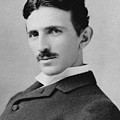 Nikola Tesla - Circa 1890 by War Is Hell Store