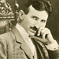 Nikola Tesla, Serbian-american Inventor by Photo Researchers