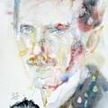 Nikola Tesla - Watercolor Portrait.3 by Fabrizio Cassetta