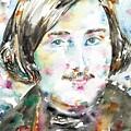 Nikolai Gogol - Watercolor Portrait by Fabrizio Cassetta