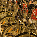 Bikes For Hire In Lyon by Gary Karlsen