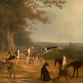 Nine Greyhounds In A Landscape by Mountain Dreams